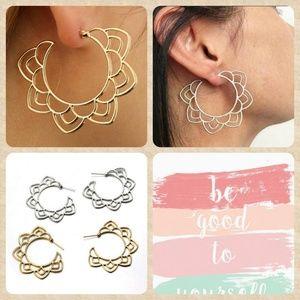 Jewelry - 🦋JUST IN!!! Boho Hoop Earrings Gold OR Silver